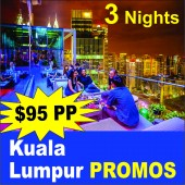 Kualalumpur Promo 4 Days 3 Nights in 3star Hotels