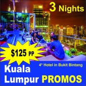 Kualalumpur Promo 4 Days 3 Nights 4 Hotel